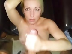 Amateur, Blonde, British, Facial