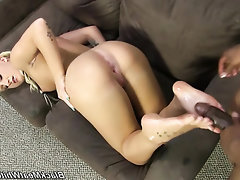 Babe, Blowjob, Ebony, Feet, Interracial