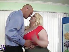 BBW, Big Butts, Blonde, Lingerie