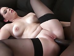Brunette, Big Boobs, Masturbation, Interracial