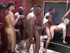Blonde, Gangbang, Interracial, MILF