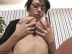 Big Boobs, Brunette, Facial, Handjob, MILF