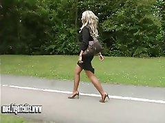 Blonde, Foot Fetish, High Heels, MILF, Pantyhose