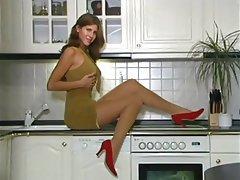 Brunette, Celebrity, Stockings, Pantyhose