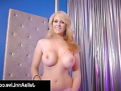 Blonde, Masturbation, Big Boobs, Lingerie