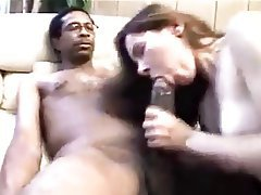 Amateur, Blowjob, Brunette, Interracial