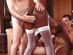 Cumshot, Group Sex, Interracial, Threesome