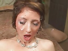 Brunette, Cumshot, Group Sex, Threesome