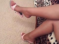Amateur, Foot Fetish, MILF, Pantyhose, Stockings