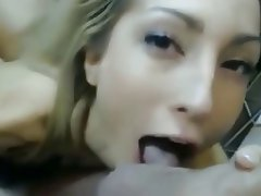 Blonde, Blowjob, Facial