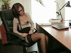 Ass Licking, Babe, Brunette, Glasses
