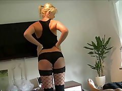Amateur, Blonde, MILF, Small Tits, Stockings