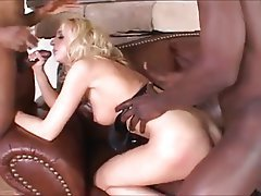 Blonde, Cumshot, Group Sex, Interracial, Pornstar
