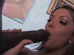 Gangbang, Interracial, Blowjob, Brunette
