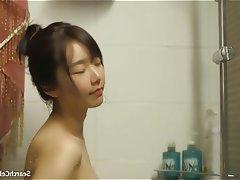 Asian, Brunette, Celebrity, Shower, Small Tits